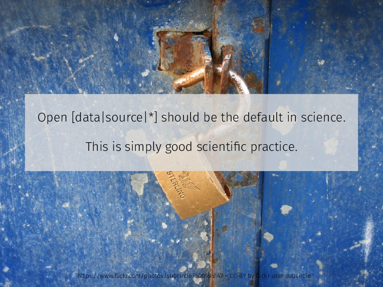 Open [data|source|*] should be the default in s...
