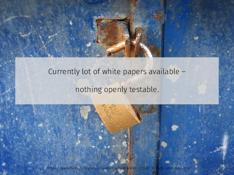 Currently lot of white papers available – nothi...