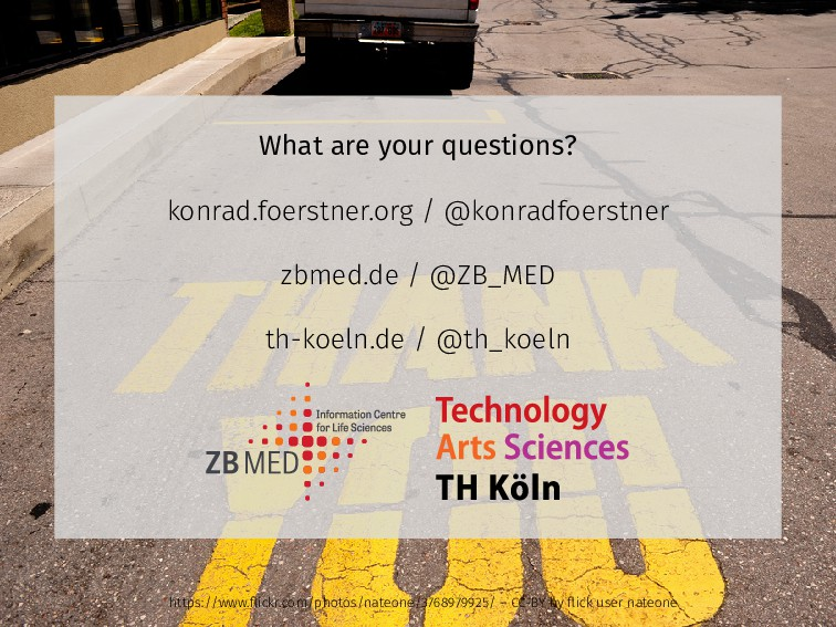 What are your questions? konrad.foerstner.org /...