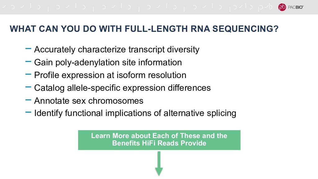 WHAT CAN YOU DO WITH FULL-LENGTH RNA SEQUENCING...
