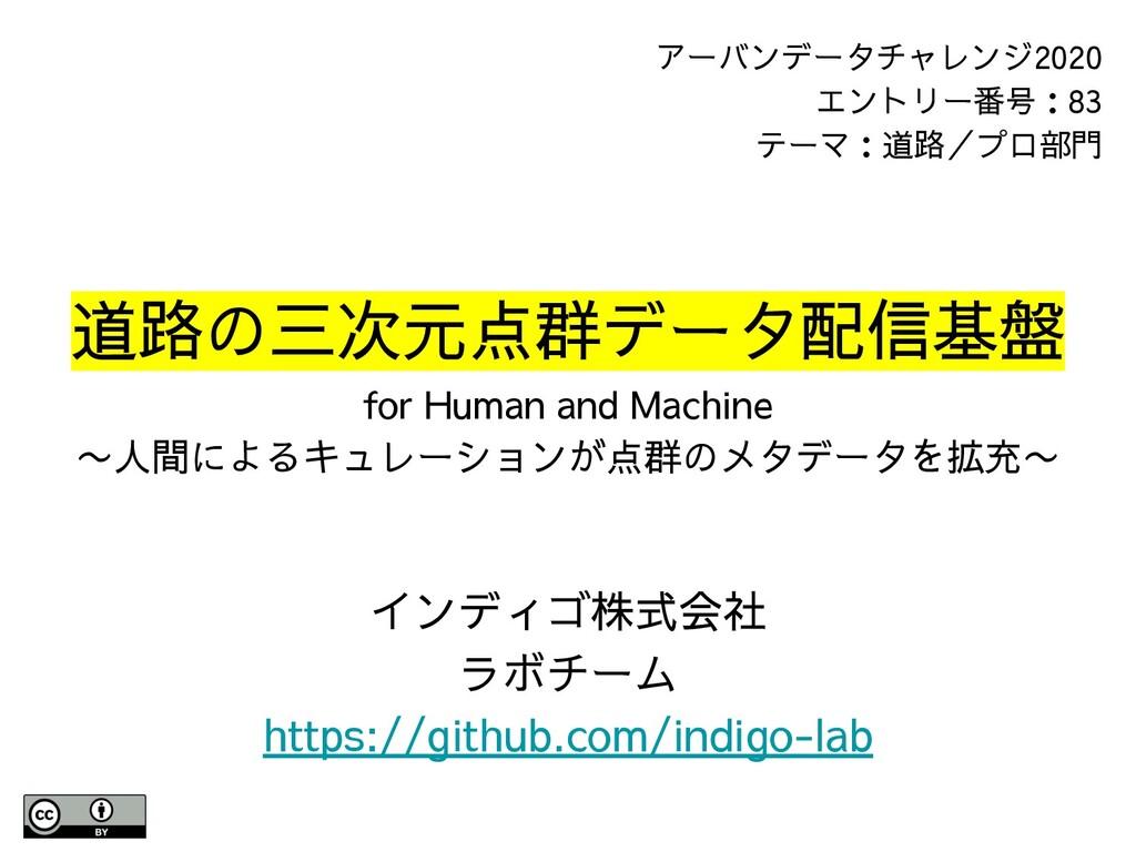 道路の三次元点群データ配信基盤 for Human and Machine 〜人間によるキュレ...