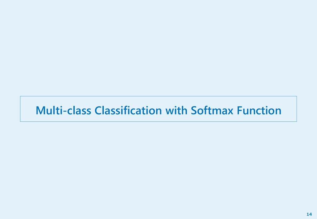 Multi-class Classification with Softmax Functio...