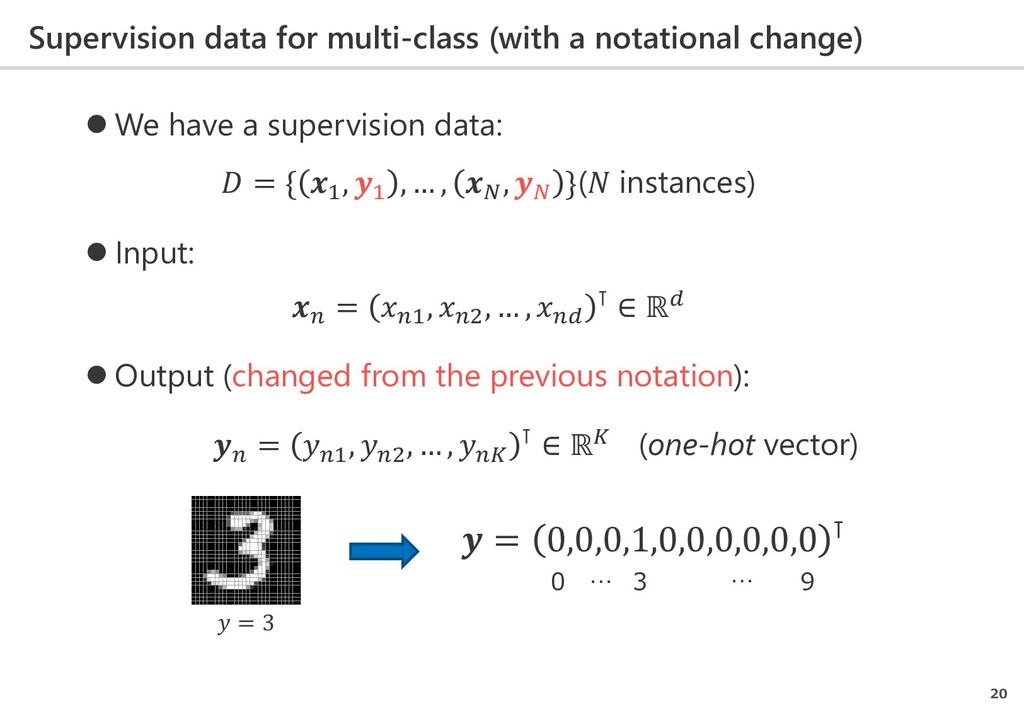 Supervision data for multi-class (with a notati...