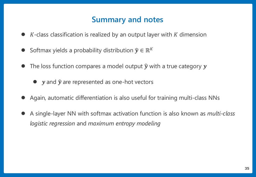 Summary and notes  -class classification is re...
