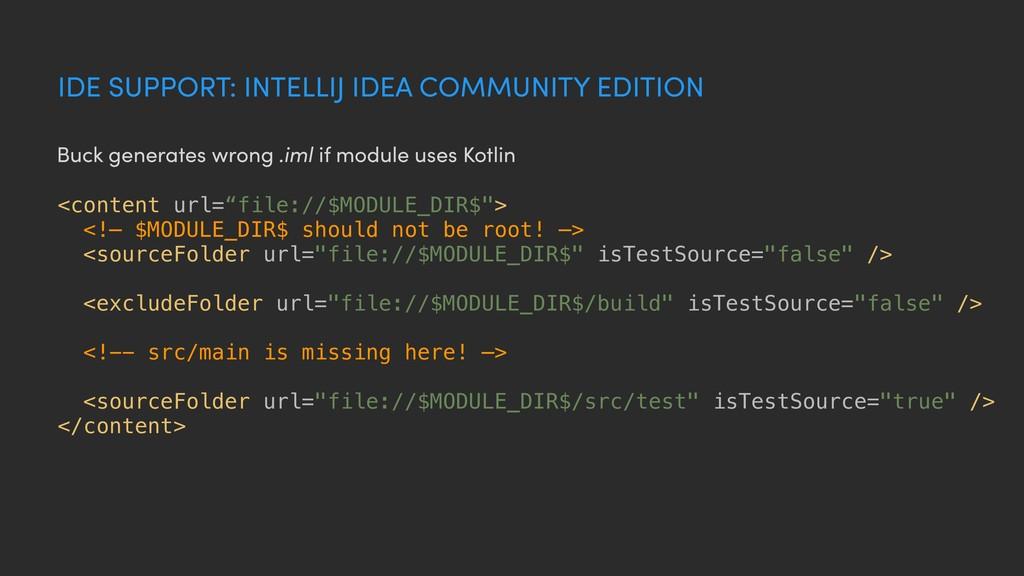 IDE SUPPORT: INTELLIJ IDEA COMMUNITY EDITION <c...