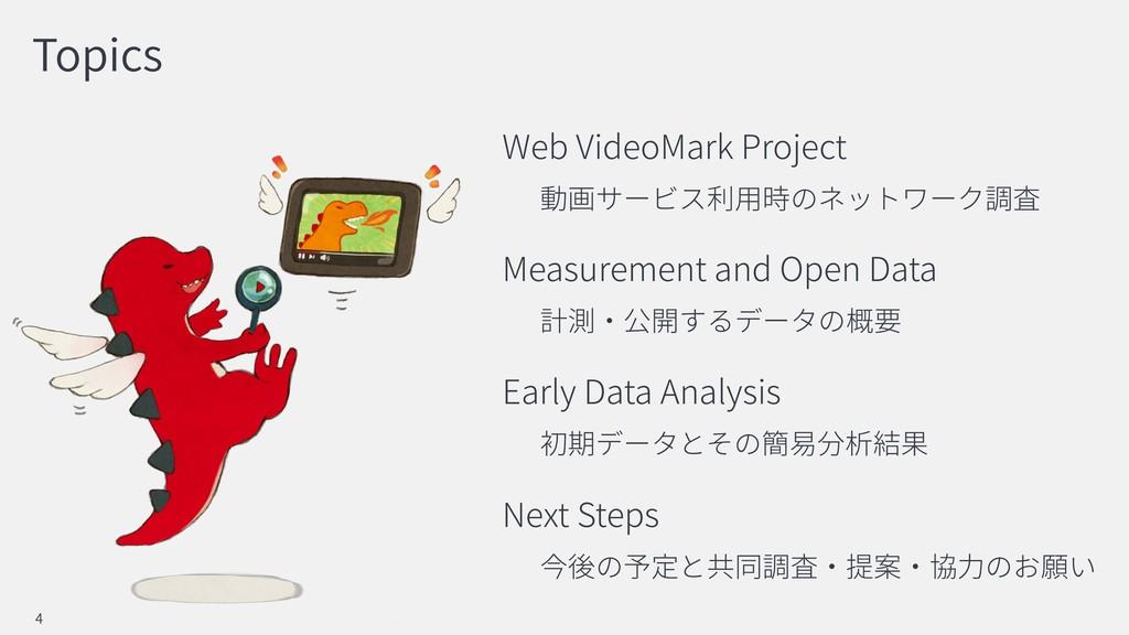 Topics Web VideoMark Project Measurement and Op...