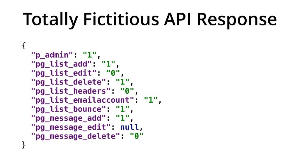 """Totally Fictitious API Response { """"p_admin"""": """"1..."""