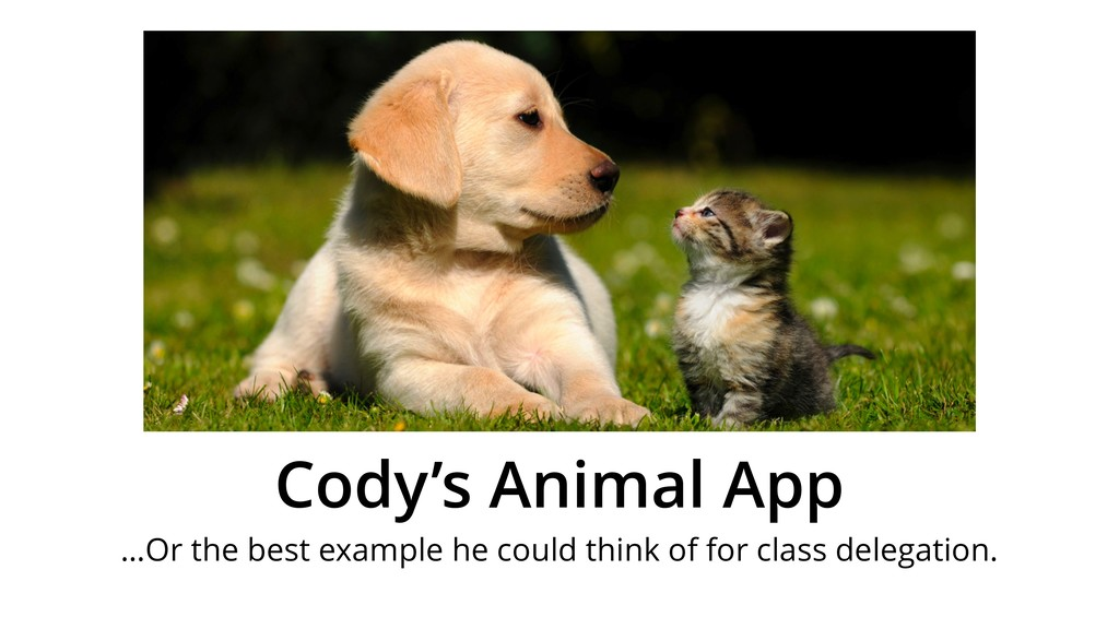 Cody's Animal App …Or the best example he could...