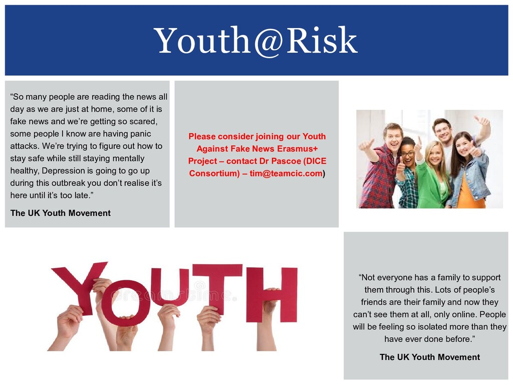 """Youth@Risk """"So many people are reading the news..."""