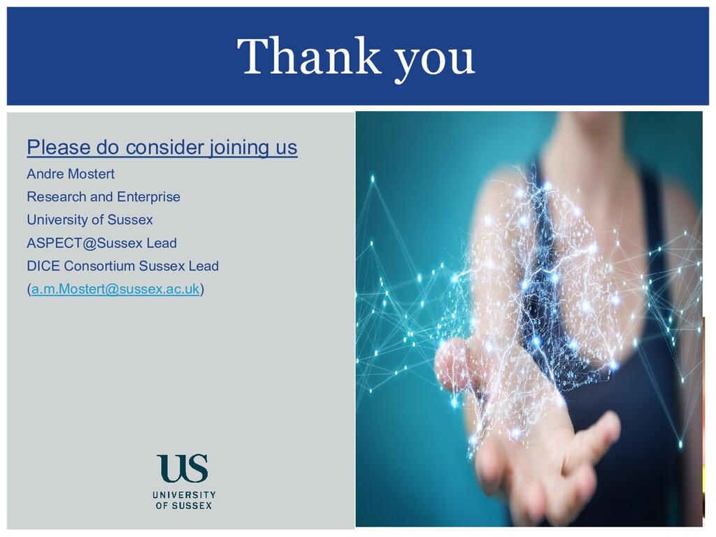 Thank you Please do consider joining us Andre M...