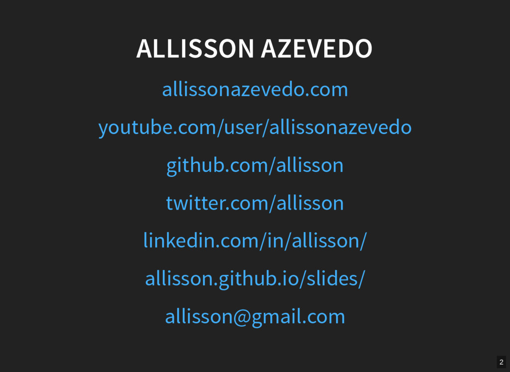 ALLISSON AZEVEDO allissonazevedo.com youtube.co...