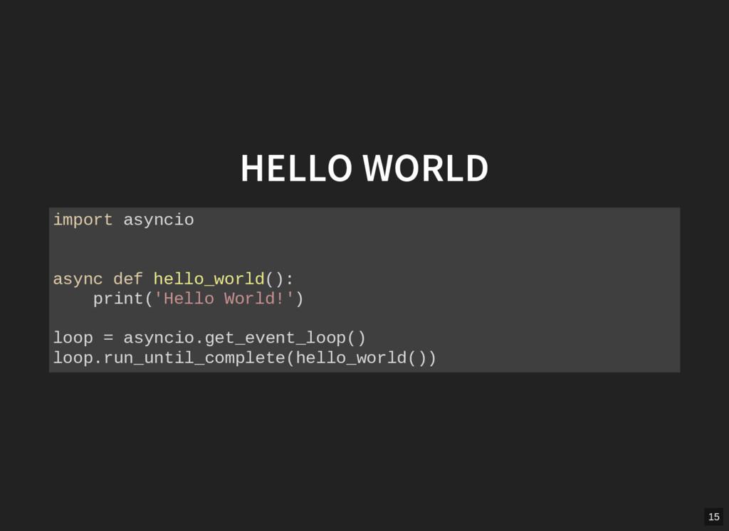 HELLO WORLD import asyncio async def hello_worl...