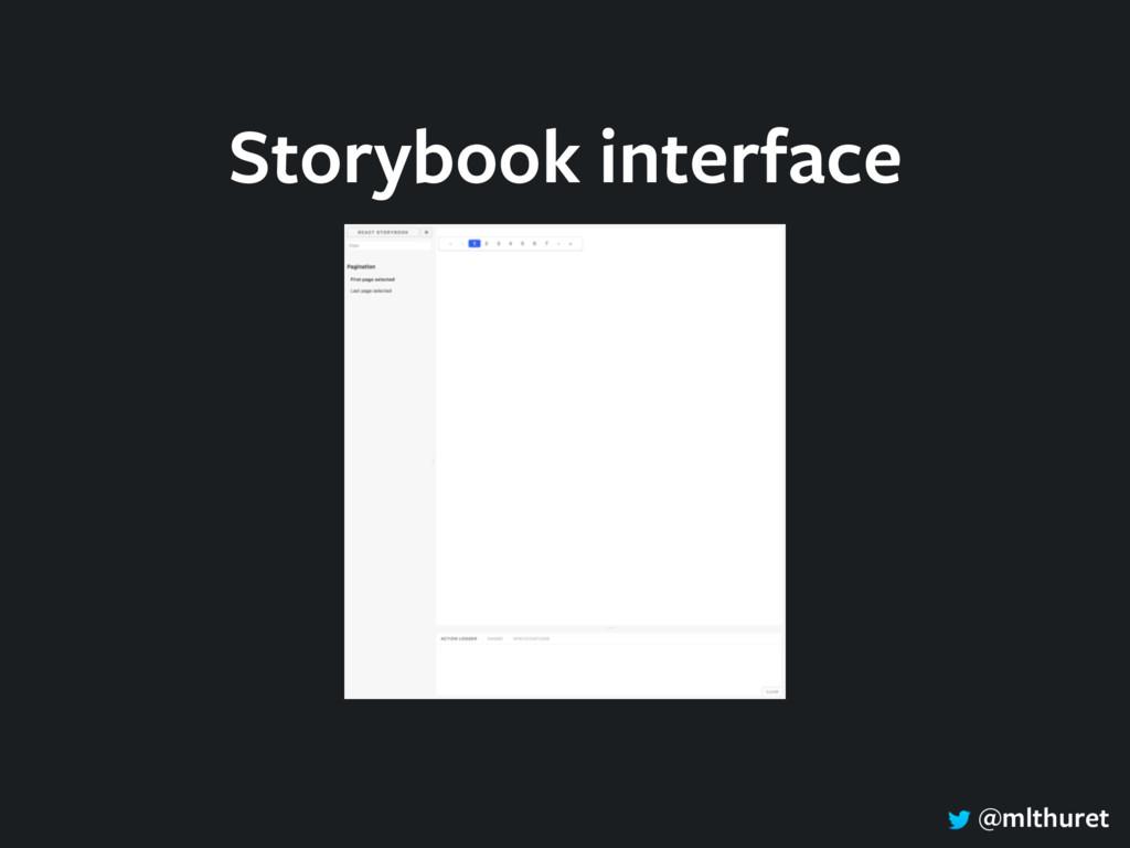 @mlthuret Storybook interface