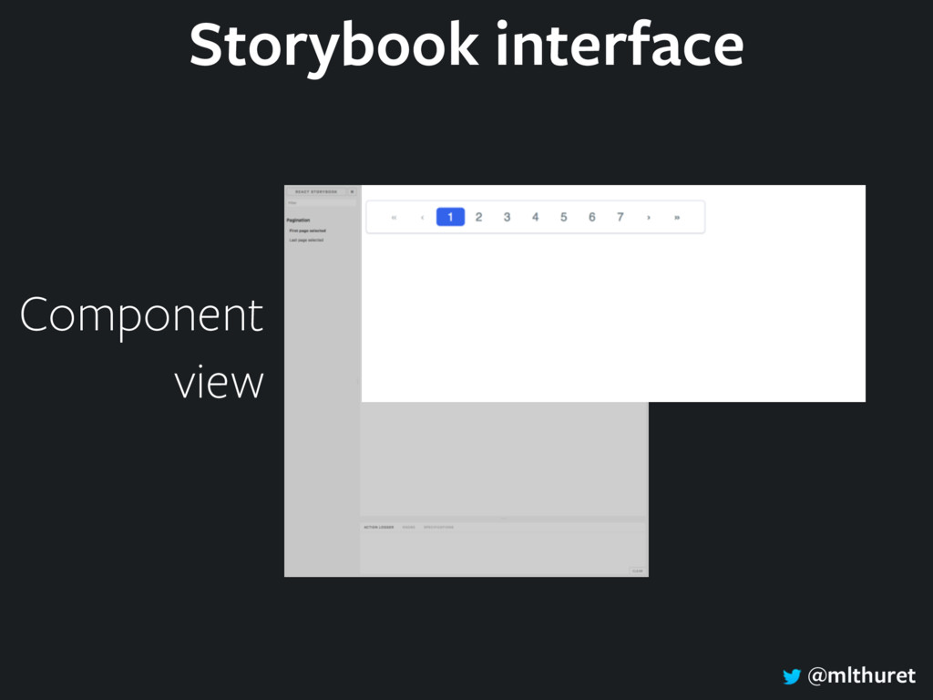 @mlthuret Component view Storybook interface