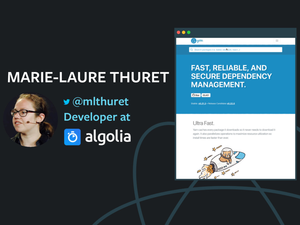 MARIE-LAURE THURET Developer at @mlthuret