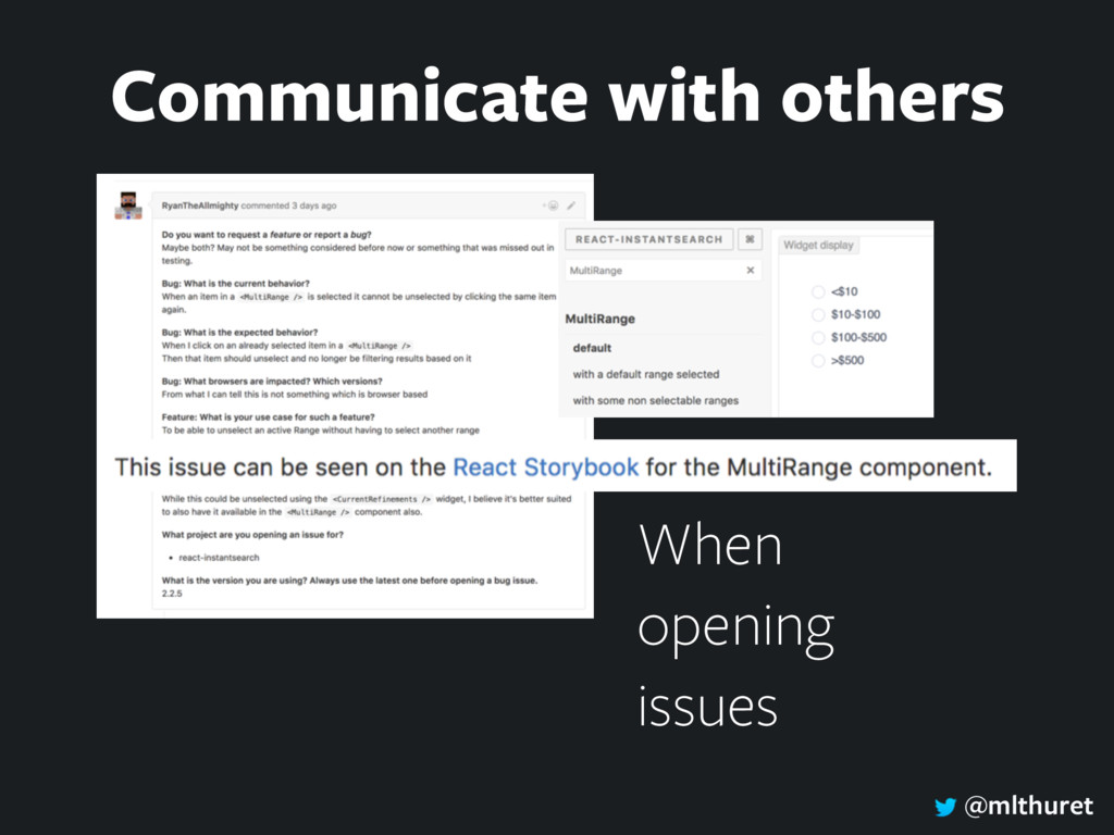 @mlthuret When opening issues Communicate with ...