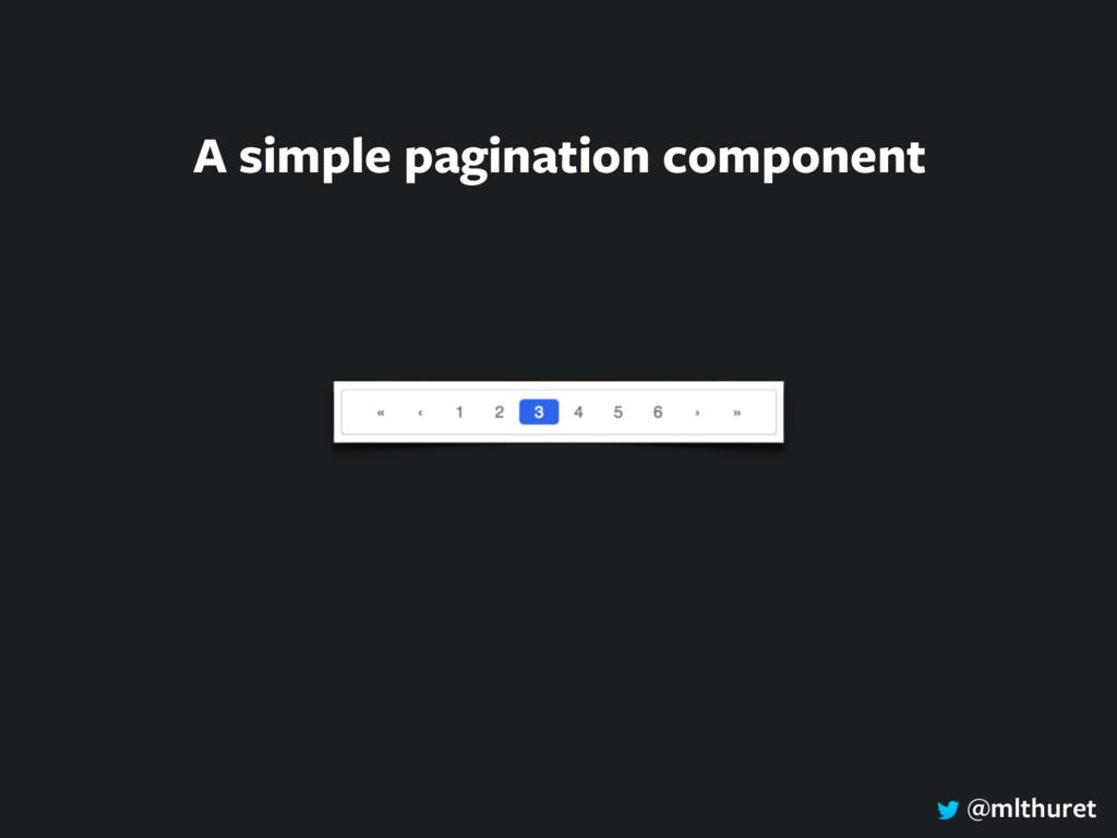 @mlthuret A simple pagination component