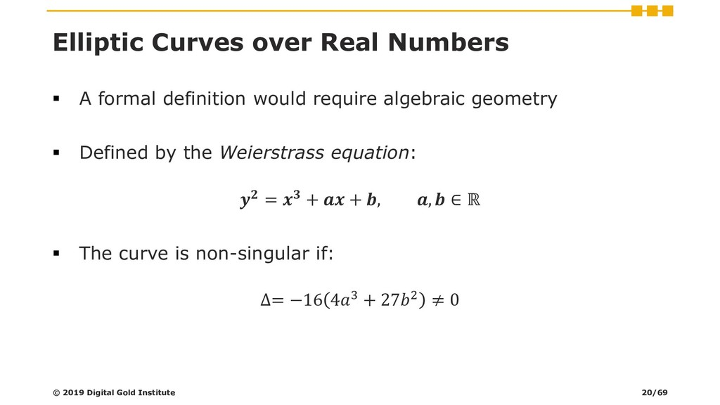 Elliptic Curves over Real Numbers ▪ A formal de...