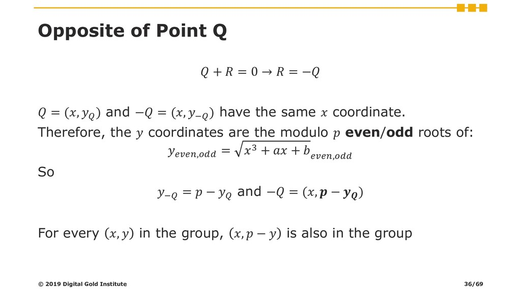 Opposite of Point Q  +  = 0 →  = −  = (,  ) and...