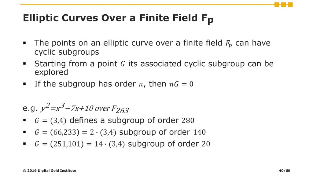 Elliptic Curves Over a Finite Field Fp ▪ The po...