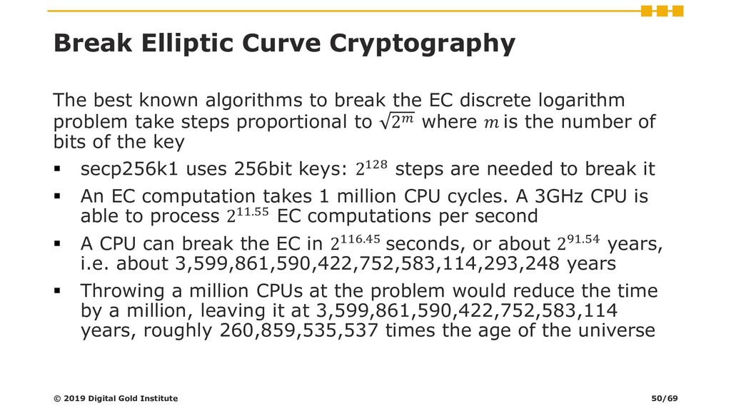 Break Elliptic Curve Cryptography The best know...