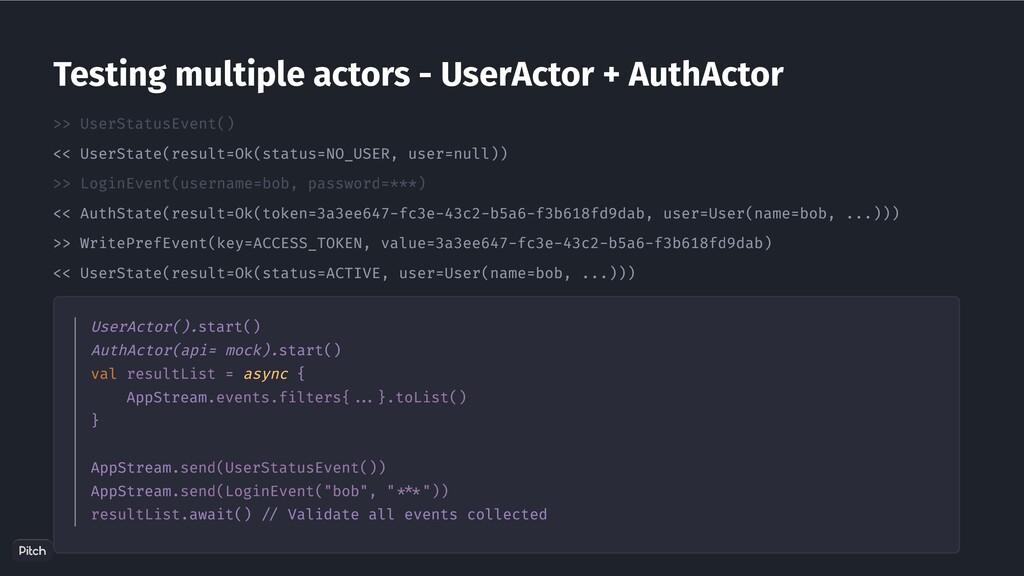 >> UserStatusEvent() << UserState(result=Ok(sta...