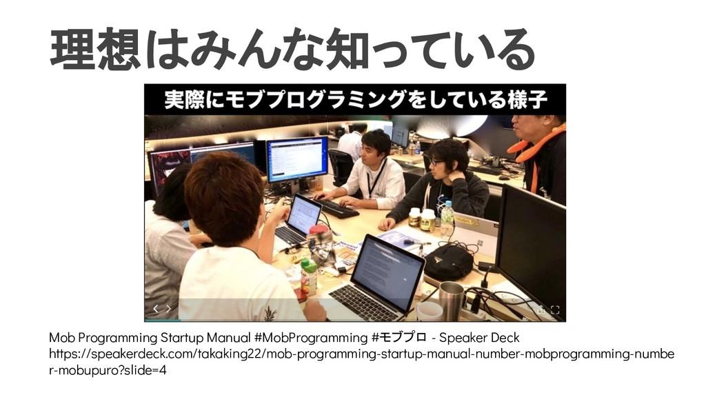 理想はみんな知っている Mob Programming Startup Manual #Mob...