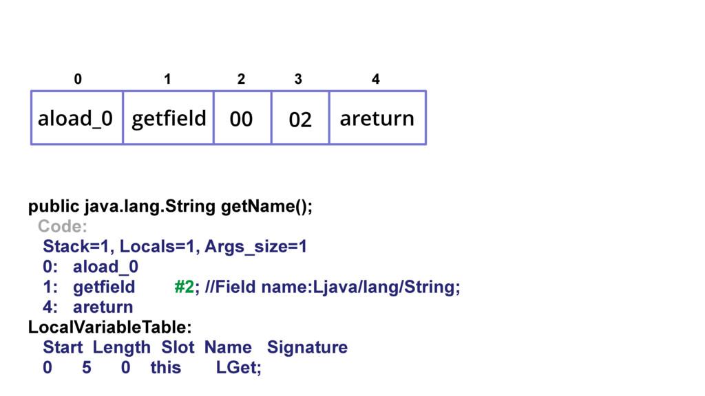aload_0 getfield 00 02 areturn 0 1 2 3 4 public...