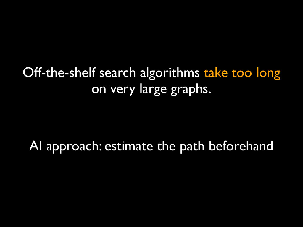 Off-the-shelf search algorithms take too long o...