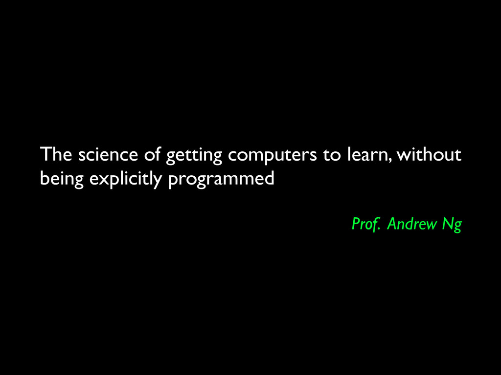 The science of getting computers to learn, with...