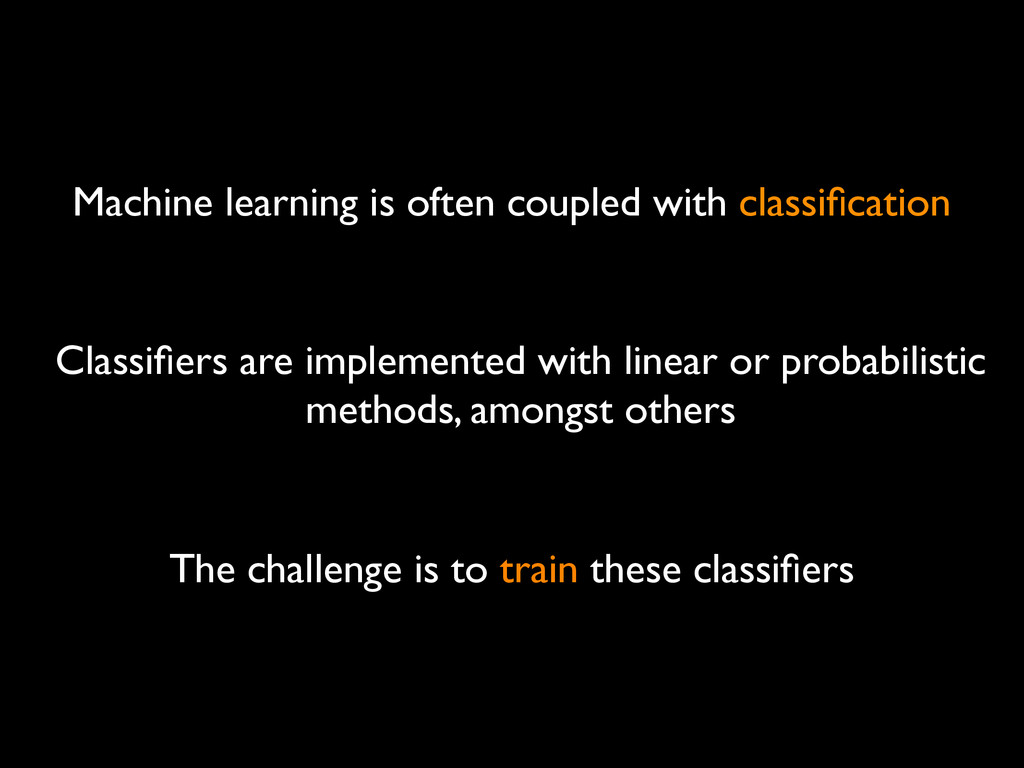 Machine learning is often coupled with classific...