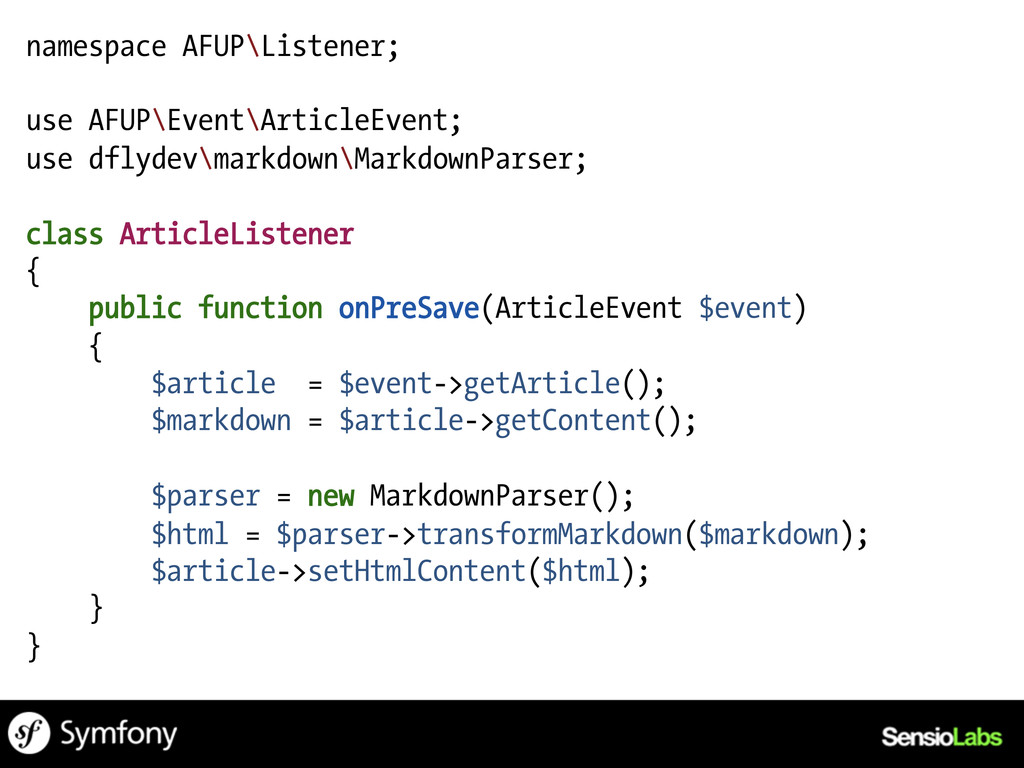 namespace AFUP\Listener; use AFUP\Event\Article...