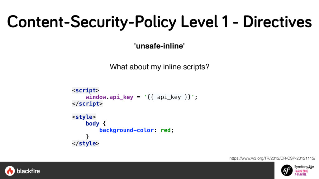 'unsafe-inline' What about my inline scripts?