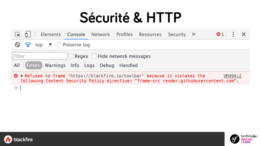 Sécurité & HTTP