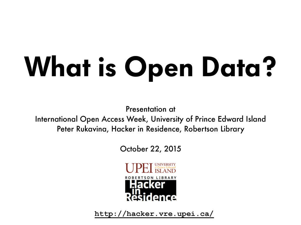What is Open Data? Presentation at  Internatio...