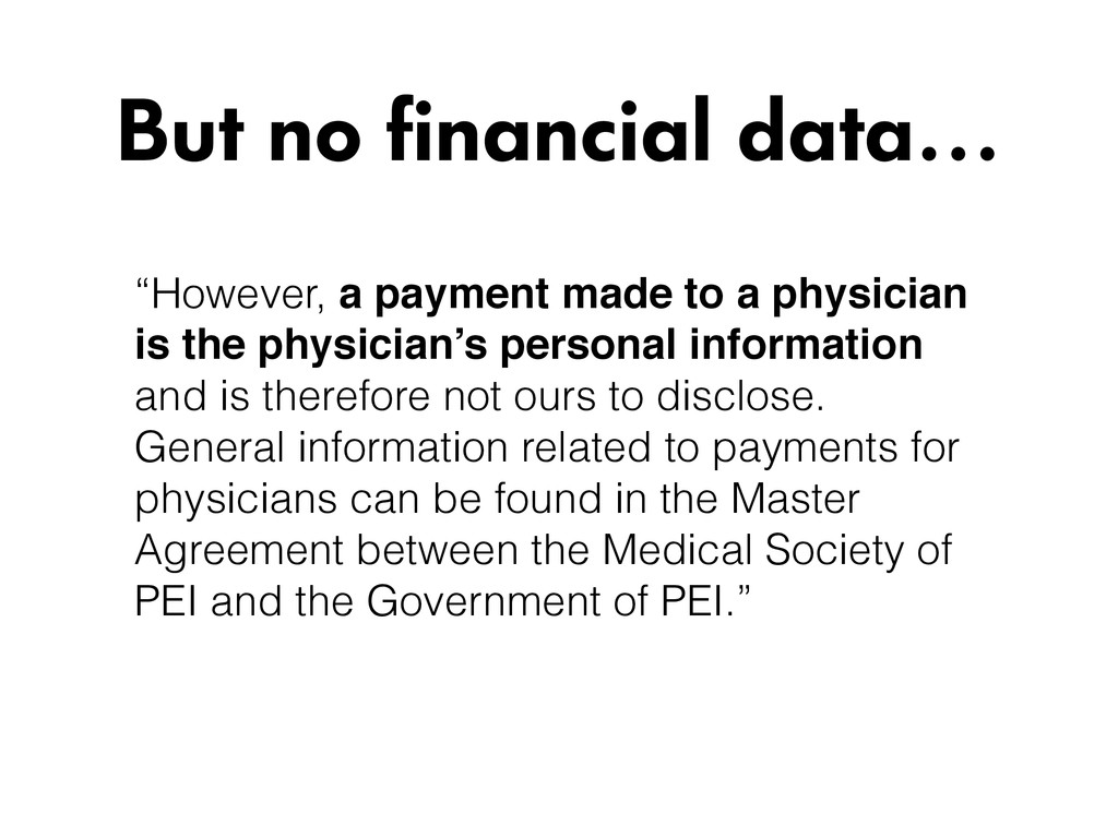 """""""However, a payment made to a physician is the ..."""