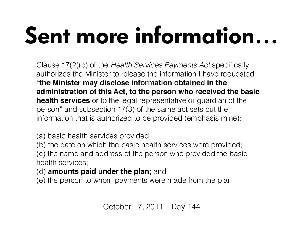 Clause 17(2)(c) of the Health Services Payments...