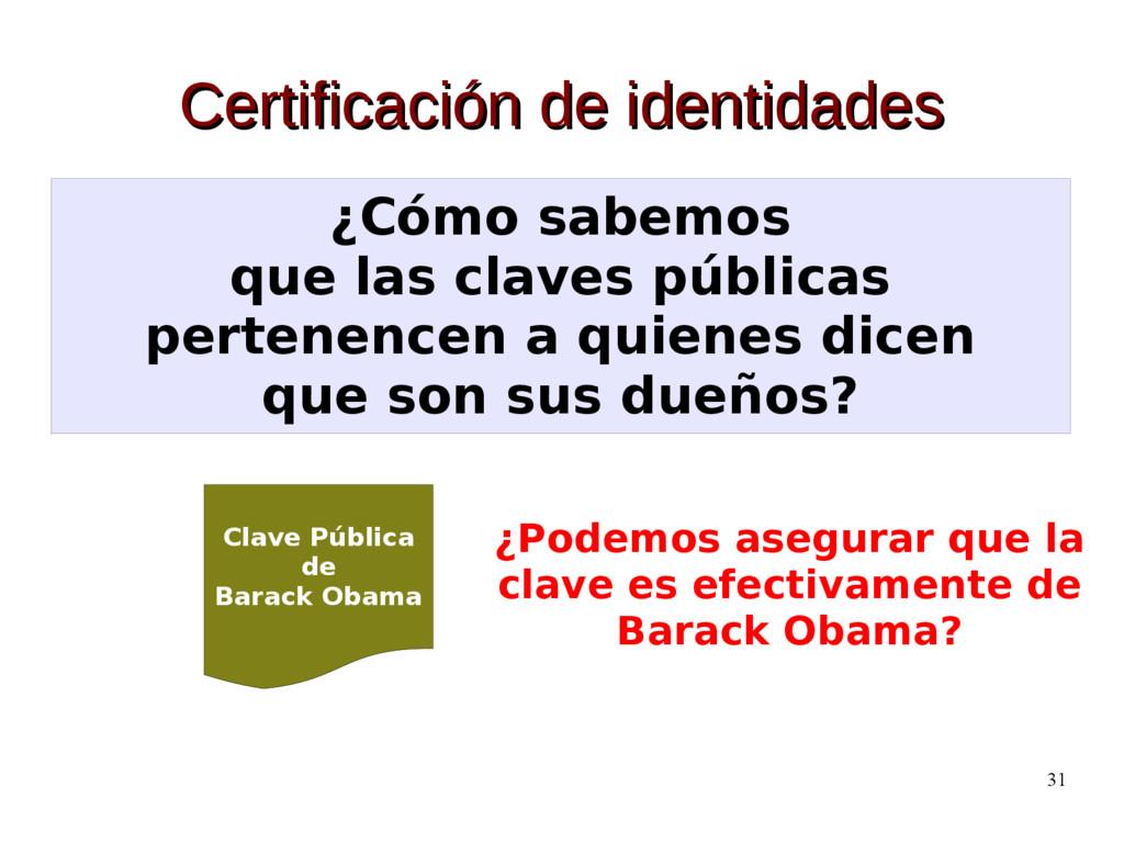 31 Certificación de identidades Certificación d...