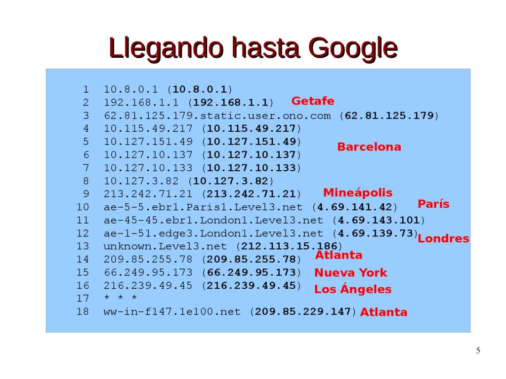 5 Llegando hasta Google Llegando hasta Google 1...