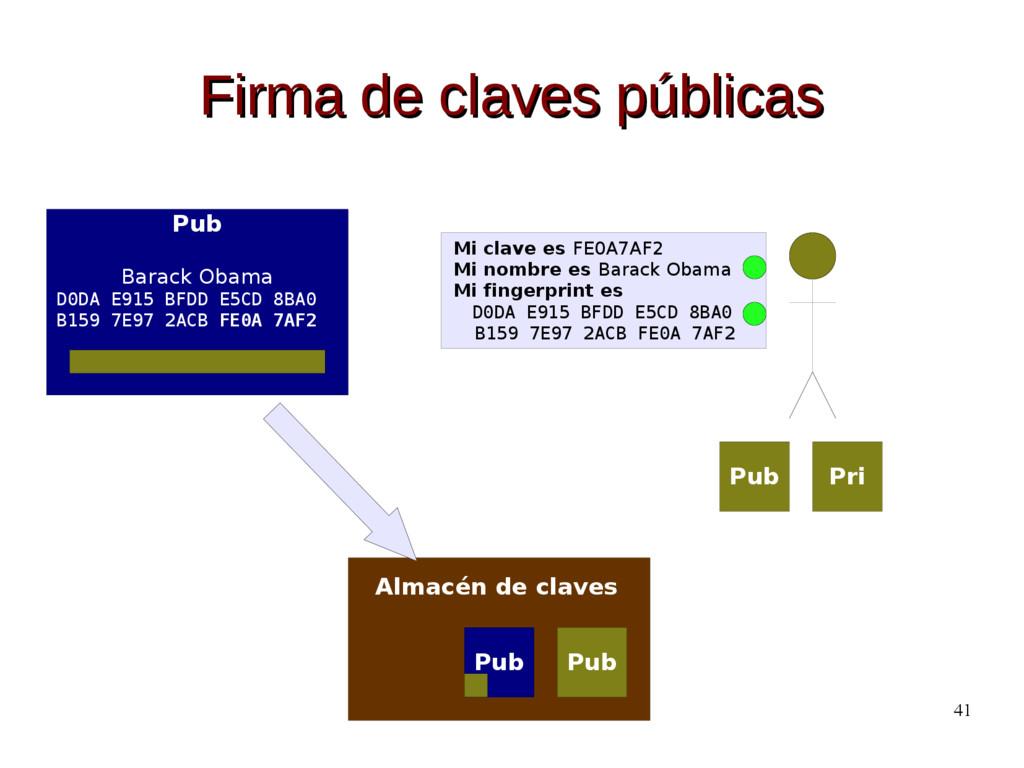 41 Firma de claves públicas Firma de claves púb...