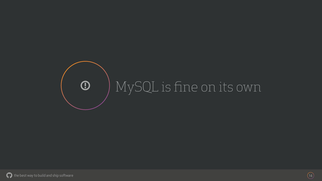the best way to build and ship software MySQL i...