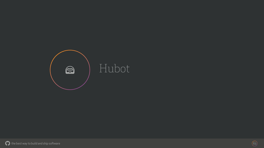 the best way to build and ship software Hubot 6...
