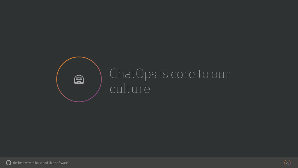 the best way to build and ship software ChatOps...