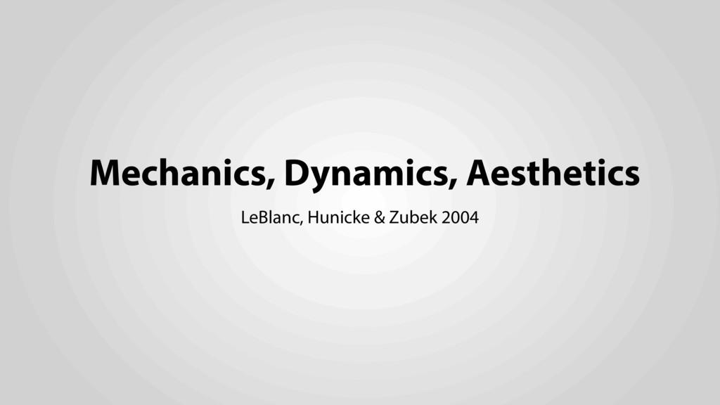 Mechanics, Dynamics, Aesthetics LeBlanc, Hunick...