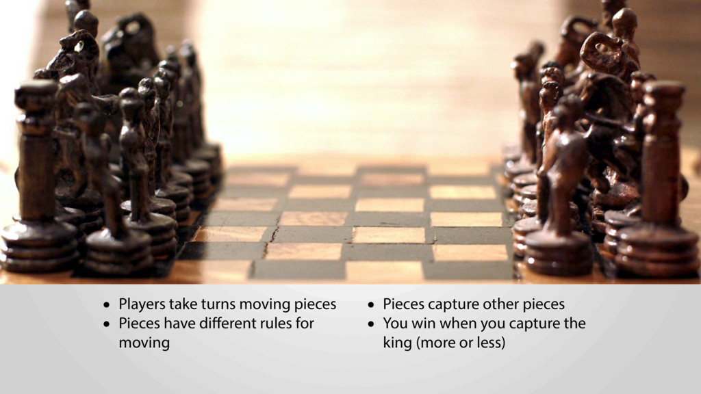 • Players take turns moving pieces • Pieces hav...