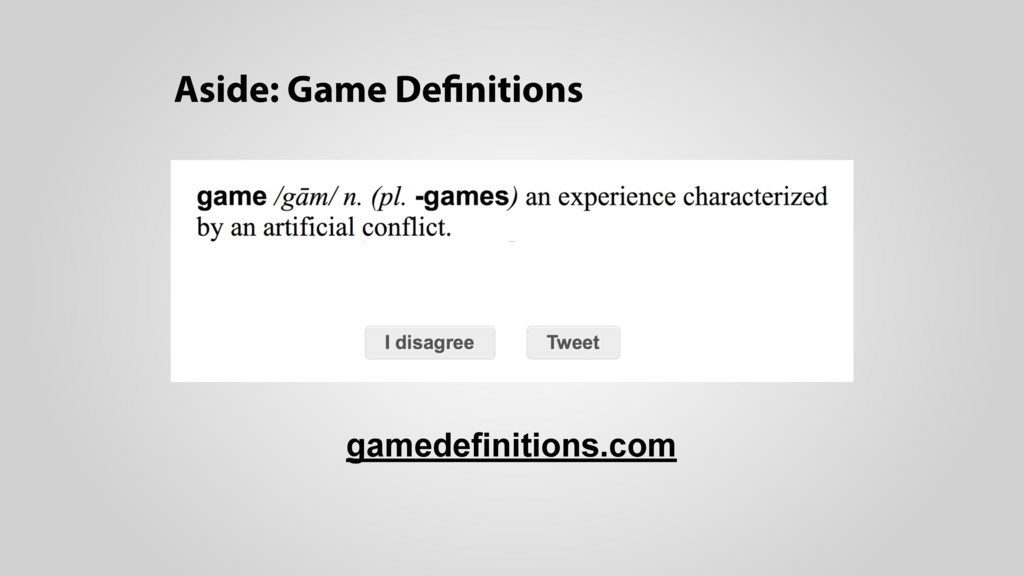 Aside: Game Definitions gamedefinitions.com