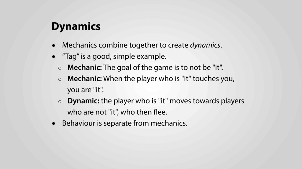Dynamics • Mechanics combine together to create...