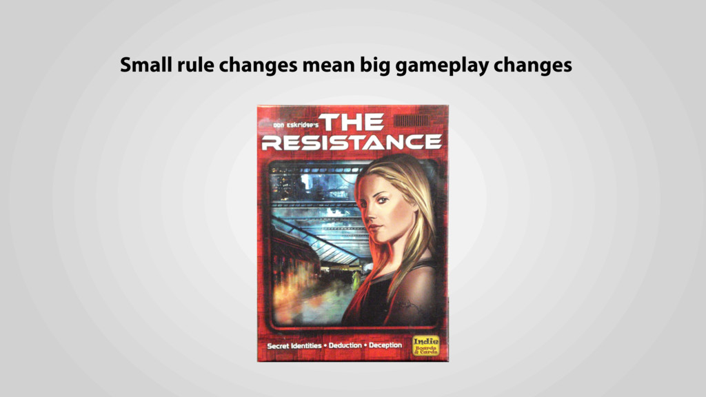 Small rule changes mean big gameplay changes