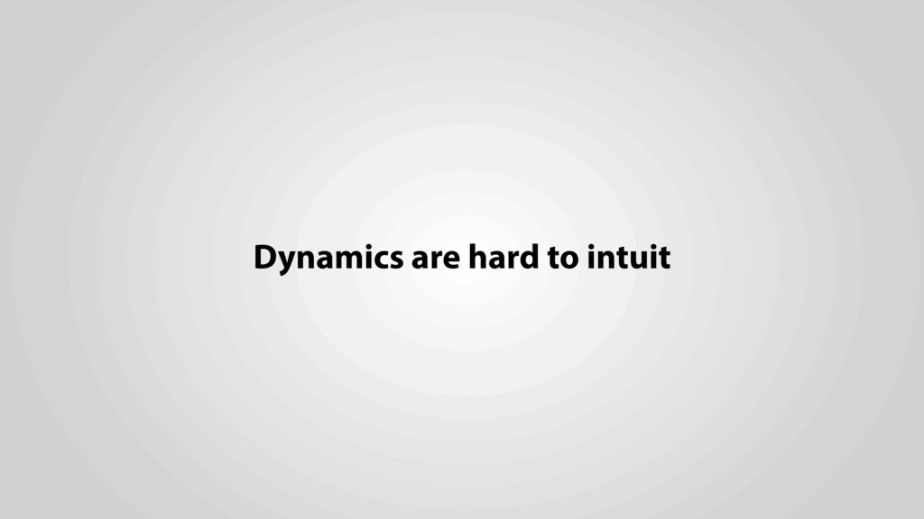 Dynamics are hard to intuit