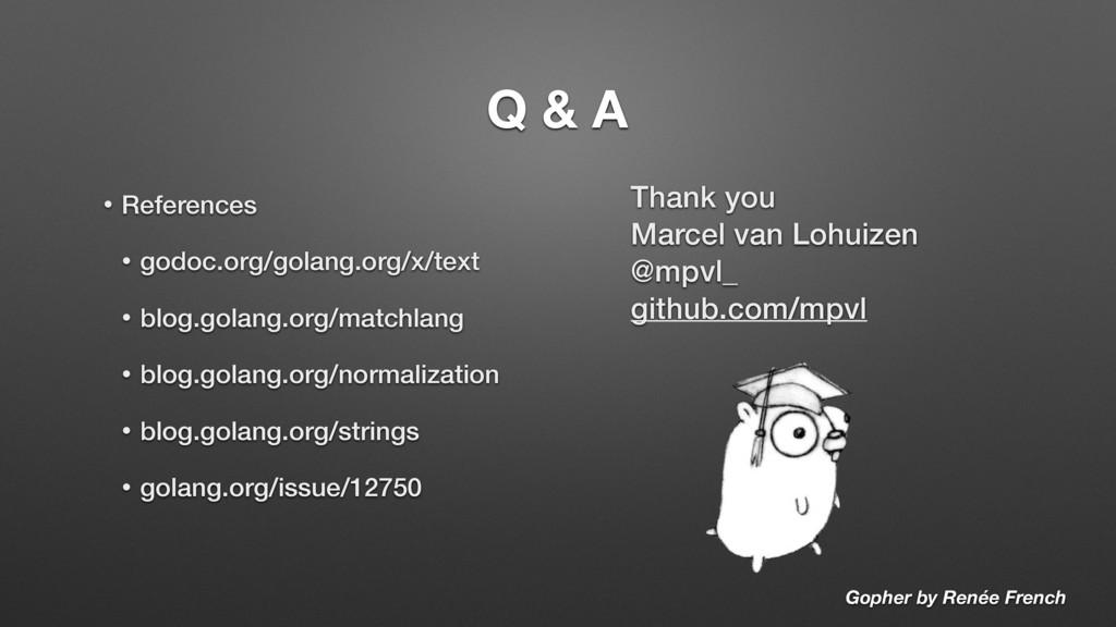 Q & A Thank you Marcel van Lohuizen @mpvl_ gith...
